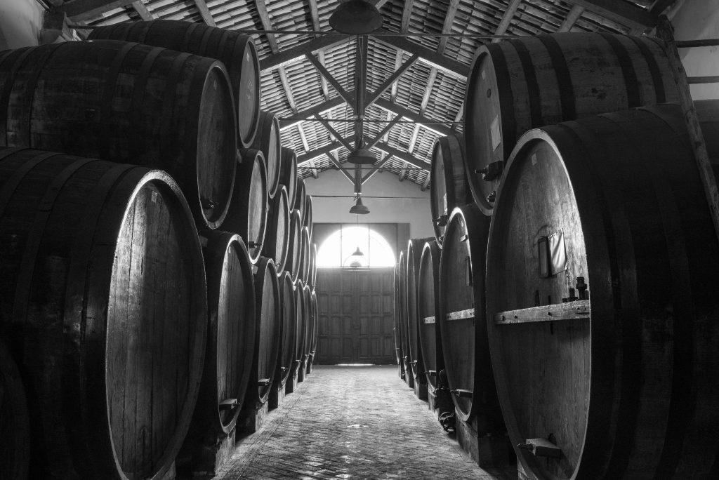 Barrels of Marsala wine