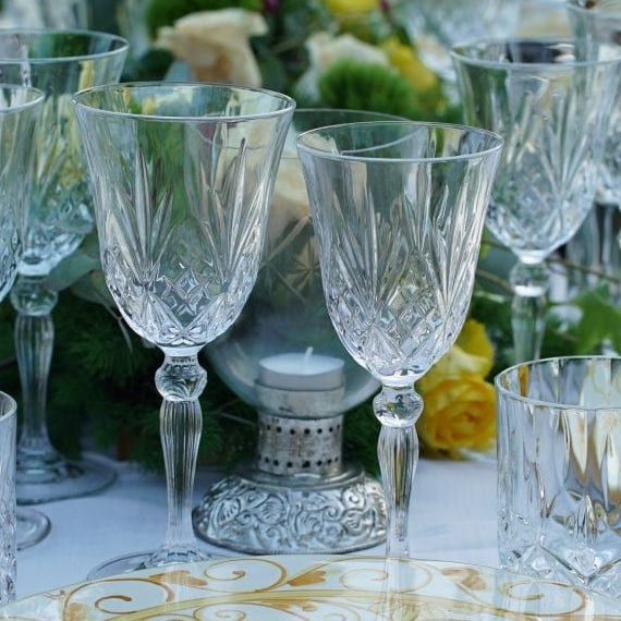 Celebration wine glasses at a Wedding in Sicily
