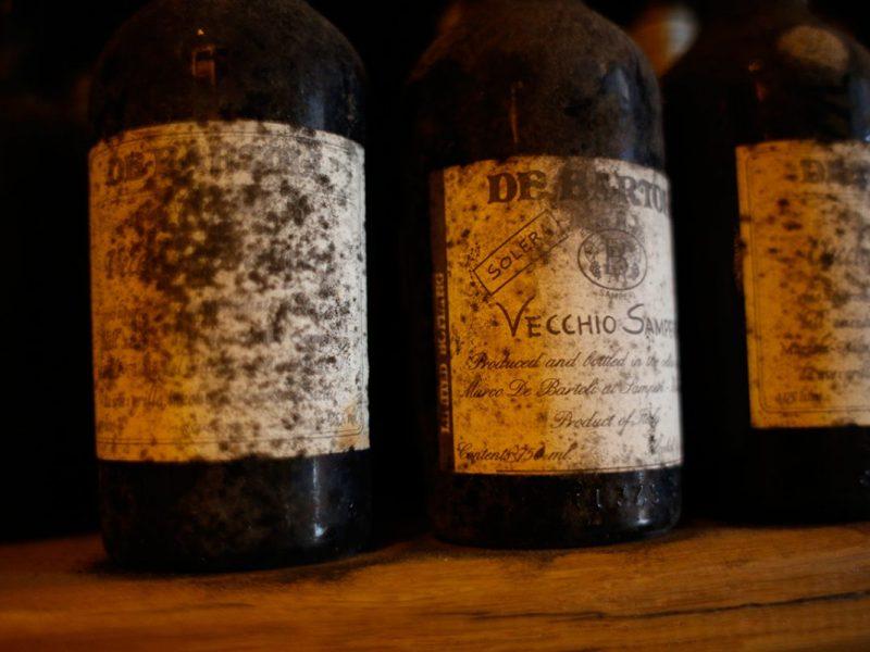 Bottles of Vecchio Samperi wine from Marsala